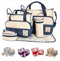 2016 New Designers Diaper Bag Tote Baby Bags Fashion High Quality Nappy Changing Bag Maternity Bag 5 Pcs/Set 7 Colors