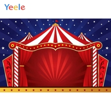 Yeele Vinyl Circus Stars Children Birthday Party Photography Backdrops Baby Child Red Photographic Backgrounds Photo Studio