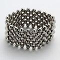 Нержавеющая сталь многослойной стретч-браслет женщин девушки ювелирные подарки античное золото посеребренная JB07 оптовая челнока