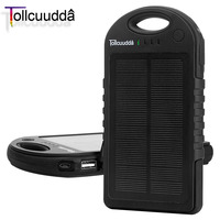 Tollcuudda Solar Phone Power Bank 12000mAH For Xiaomi Iphone 6 Mobile Battery Charger Poverbank Portable Powerbank