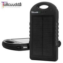 Tollcuudda Solar Banco de la Energía Del Teléfono 12000 mAH Para Xiaomi Iphone 6 Poverbank Portable Powerbank Móvil Cargador de Batería Solar