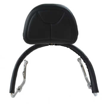 Black leather Motorcycle Adjustable Driver Rider seat Backrest Kit Custom Made For Honda Goldwing GL1800 2001-2017 16 15 14 13 - DISCOUNT ITEM  31% OFF All Category