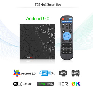 Image 2 - T95max Android TV Box 9.0 4GB 64GB di Smart TV Allwinner H6 Quad Core USD3.0 6K HDR 2.4GHz Wifi Google Player Youtube T95 max