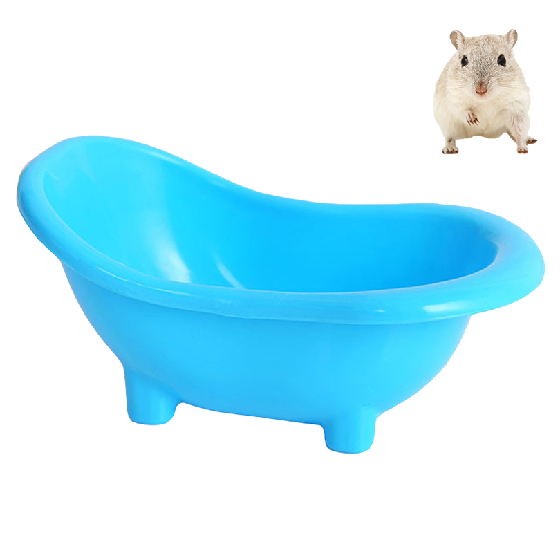Petacc Plastic Hamster Bath Tub Lightweight Hamsters Bathtub Creative Pet Sand Tubs