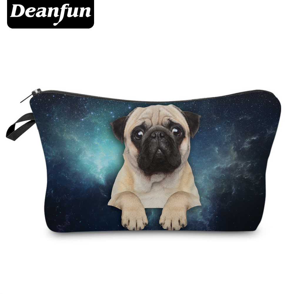 Deanfun 3D Printed Cosmetic Bags Pug Pattern Cute For Makeup Organizer Necessaries Women Travelling 36953