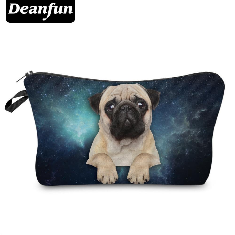 Deanfun 3D Printed Cosmetic Bags Pug Pattern Cute For Makeup Organizer Necessaries Women Travelling 36953