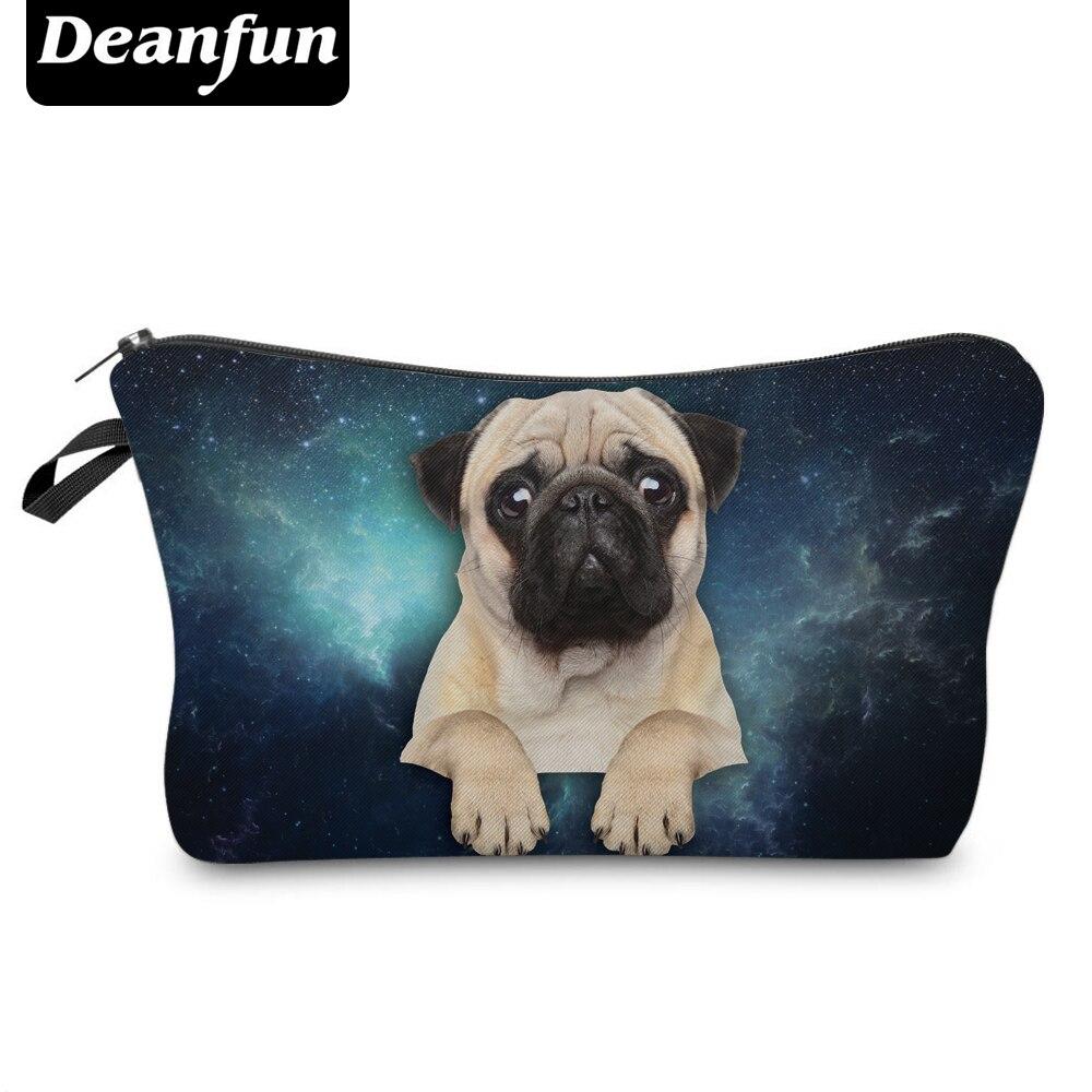 Deanfun 3D Printed Cosmetic Bags Pug Pats