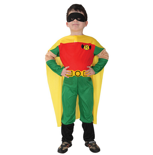 XMAS Christmas Gift Robin Hero Outfit Boys Kids Party Costume Present NL1391