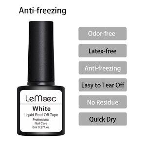 Image 5 - Lemooc 8 мл антифриз пилинг для ногтей латексная защита для кутикулы розовая защита для кутикулы лак для ногтей латексный дизайн ногтей