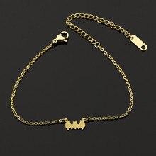 Великолепная сказка Прохладный вампиров Бэтмен манжеты Pulseira feminina милые животные ювелирные изделия Нержавеющая сталь Бохо Браслет-цепочка B014