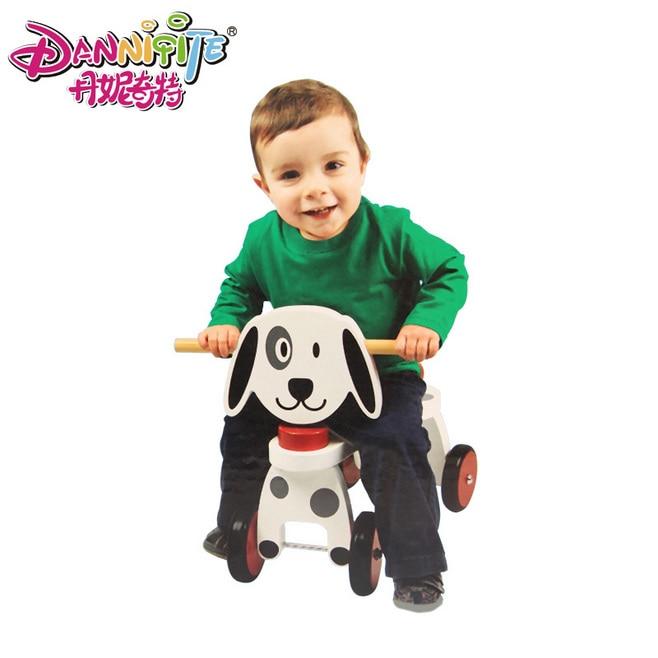 Danniqite baby safe hochwertige reine holz doggy trike hund fahrt auf cars...