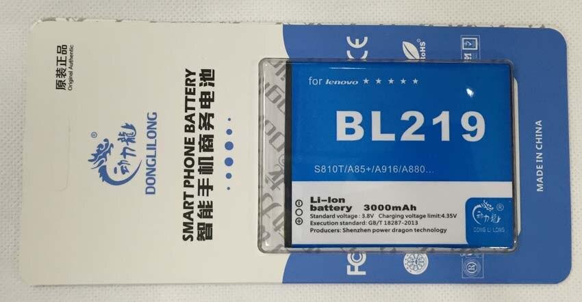 BL219 Батарея для <font><b>Lenovo</b></font> <font><b>A916</b></font> A880 A889 A890E S810T S860e A805E A816 S856 A850 + 2500 мАч donglilong