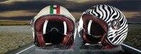 Hà lan beon thời trang cổ điển harley phong cách xe máy mũ bảo hiểm mùa hè nửa khuôn mặt xe máy mũ bảo hiểm làm bằng sợi thủy tinh đen trắng