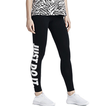 S-xl ankle workout sportswear length letter print leggings slim black fashion