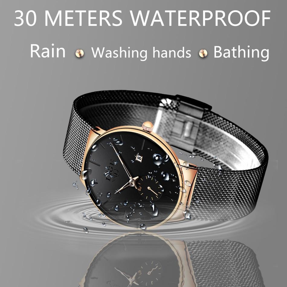 HTB1VIspe8iE3KVjSZFMq6zQhVXaF Relojes Hombre LIGE New Mesh Steel Men Watches Top Brand Luxury Ultra-thin Waterproof Quartz Watch Men Casual Sport Quartz Clock