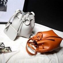 2017 Nuevo Bolso de Hombro Famosa Marca Bucket Bolso de Lazo Bucket Bag Crossbody Mensajero Bucket bag con La Pequeña Bolsa