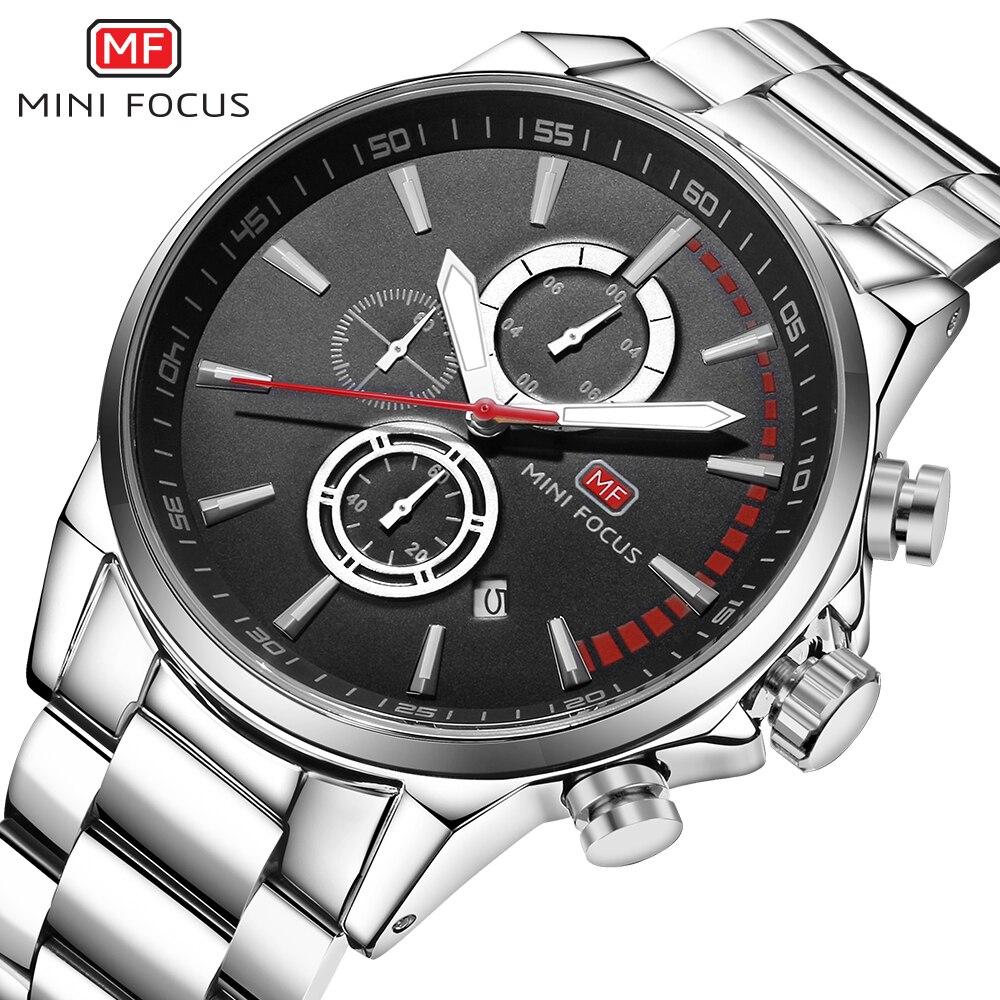 MINI FOCUS Wrist Watch Men Top Brand Luxury Famous Male Clock Quartz Watch Wristwatch Quartz-watch Relogio Masculino MF0085G.02 расчески bibi набор детская и щетка для волос из натуральной щетины 103590