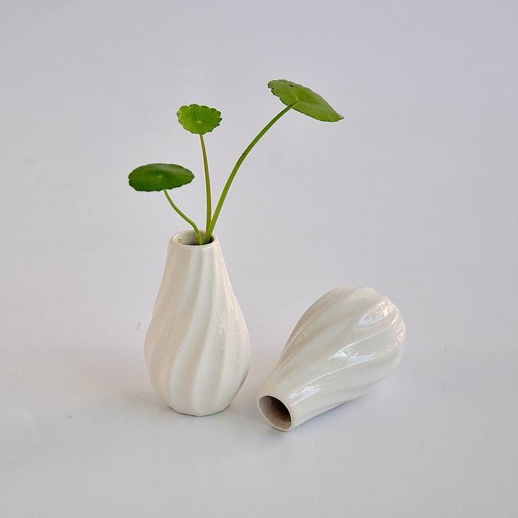 2pcs/pack Ceramic Flower Pots Planters Home Decor Vases Flower Vases White  Pots Folding Paper