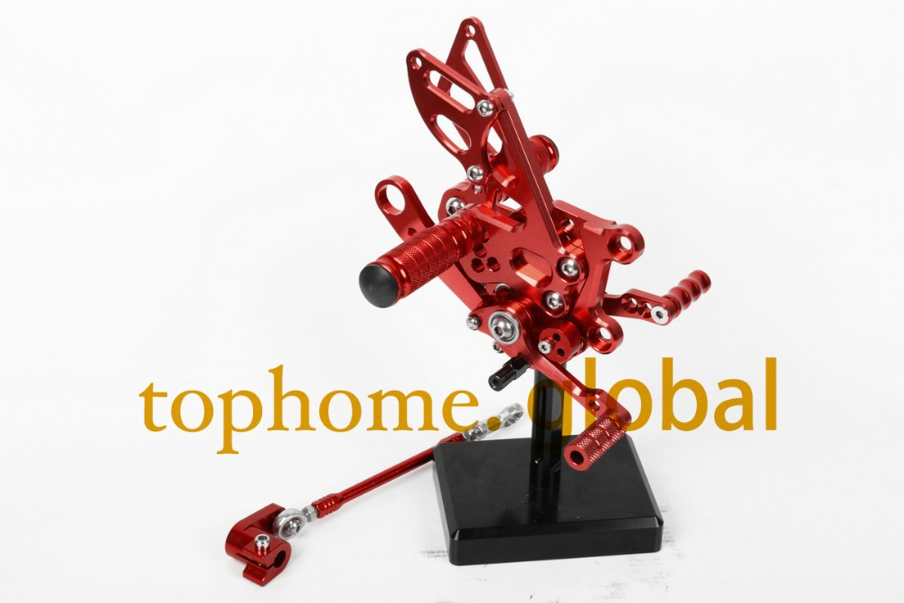 Red Motorcycle Parts CNC Rearsets Foot Pegs Rear Set For Aprilia RSV4 2009-2012 2010 2011 motorcycle foot pegs New