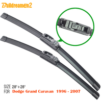 Brand New 2Pcs Windscreen Soft Rubber Windshield Frameless Wiper Blades Suit Grand Caravan 1996 2007