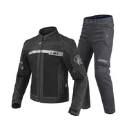 2018 New SSPEC Black Motorcycle Jacket Pants Men Moto Jacket Breathable Denim Mesh Racing Riding Jacket Jaqueta Motoqueiro