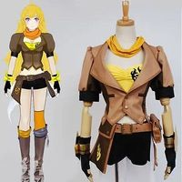 Japan Anime Cosplay Costume Yellow Trailer Yang Sexy Full Set Fighting Costume