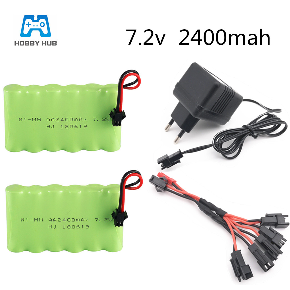 Durable Large Capacity 7.2V NI-MH Charge Battery Pack for RC Car Boat Model Toys
