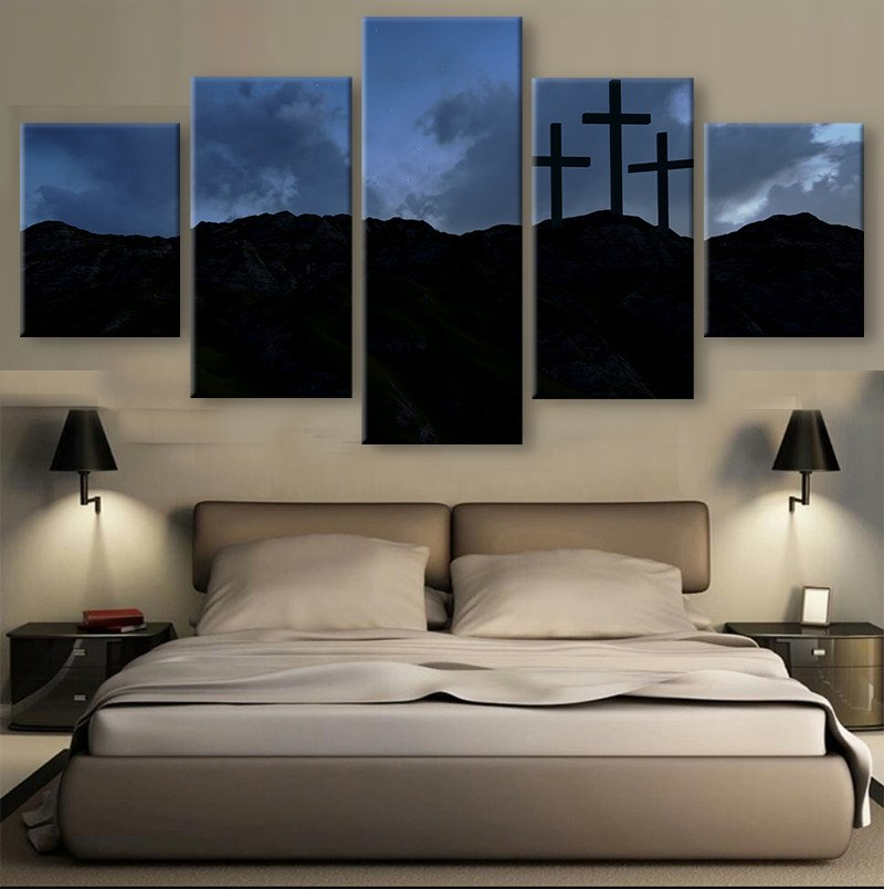 Wonderful 5 Pieces HD Print Canvas Art Christian Three Crosses Paintings On Canvas  Wall Art For Home Decorations Wall Decor Artwork In Painting U0026 Calligraphy  From ...