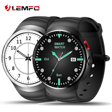 "2017 LEMFO LES1 Bluetooth Smart Watch MTK6580 1.39"" OLED Round Support SIM Card For Android IOS Phone"