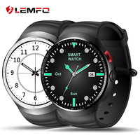 2017 LEMFO LES1 Bluetooth Smart Watch MTK6580 1 39 OLED Round Support SIM Card For Android