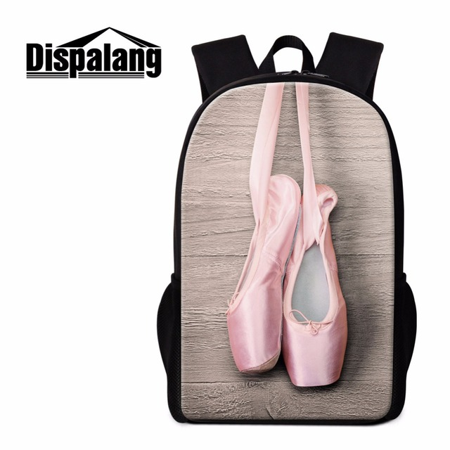 Dispalang Ballet Girls Backpack for Teenagers Children Cute Bookbag Pattern  Personalized School Bag Mochilas for Kids Students 902a243db0c7e