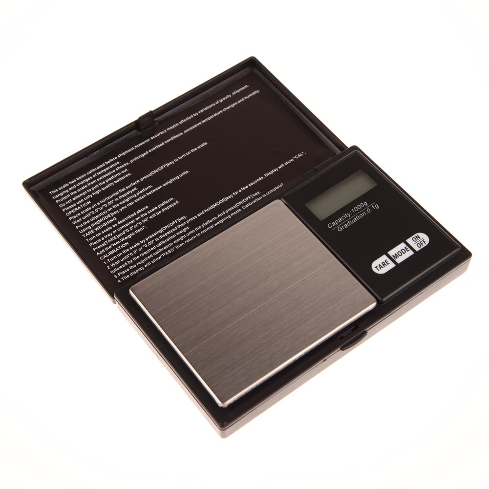 Mini Precision Digital Scale 1000g x 0.1g Jewelry Gold Silver Coin Gram Pocket Size Display Units Pocket Electronic Scales