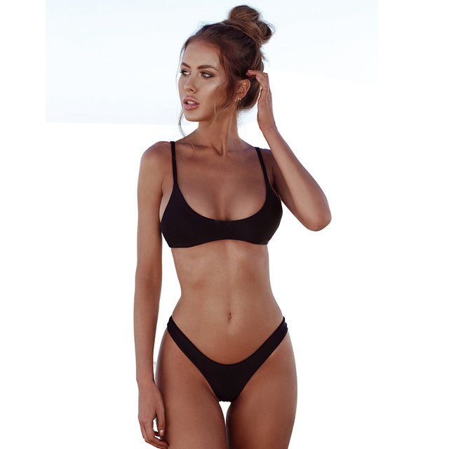 3afc731a70203 bikini Brand 2018 new Push Up Bikini Swimwear Women Swimsuit Solid Bikinis  Set Biquini Bathing Suit Women swimming suit