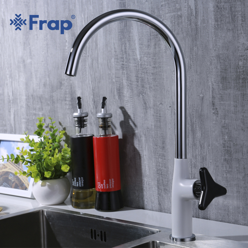 Frap 2018 new arrival Hot and Cold Water mixer modern brass single handle kitchen faucets sink taps with Rotary handle Y40008Frap 2018 new arrival Hot and Cold Water mixer modern brass single handle kitchen faucets sink taps with Rotary handle Y40008
