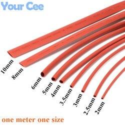 2:1 thermorétractable Tube thermorétractable manchon thermorétractable isolation fil câble 600 V rouge couleur 9 pc chaque taille 2 à 10 MM