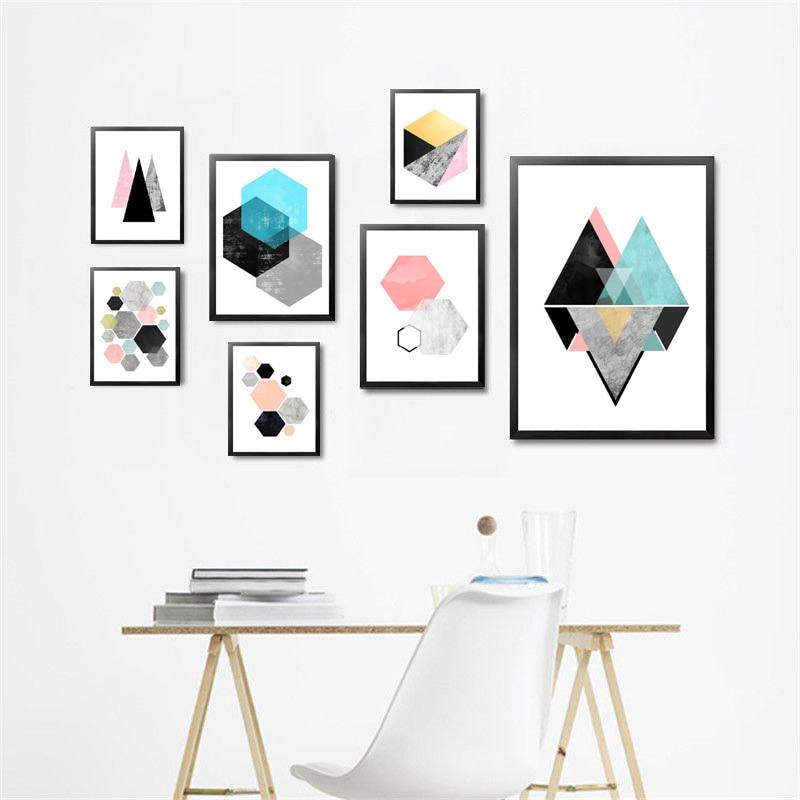 Modernen minimalistischen abstrakte Geometrische bild leinwand ...