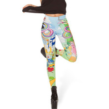 Pants Fashion Pants Goth Rock Style Celebrity Comic Print Tattoo Warmers Stretchy Pants Sexy Body Shaping Leggings Colorful