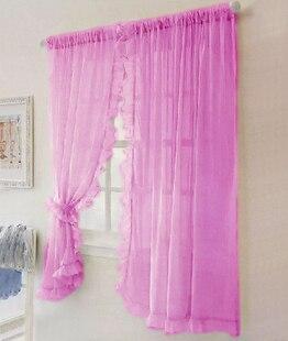 2 uds. Dobladillo con volantes de encaje de gasa cortina de pantalla de ventana manto de cama, cortinas de jardín para sala de estar 3 colores 150 cm x 180 cm Panel transparente Voile ventana cortina habitación Floral tul bufandas cortinas