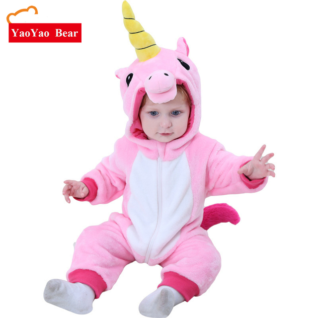 5a300c553dc3 Baby Unicorn Romper Children Costume Unisex 0 3T Girls Jumpsuit ...