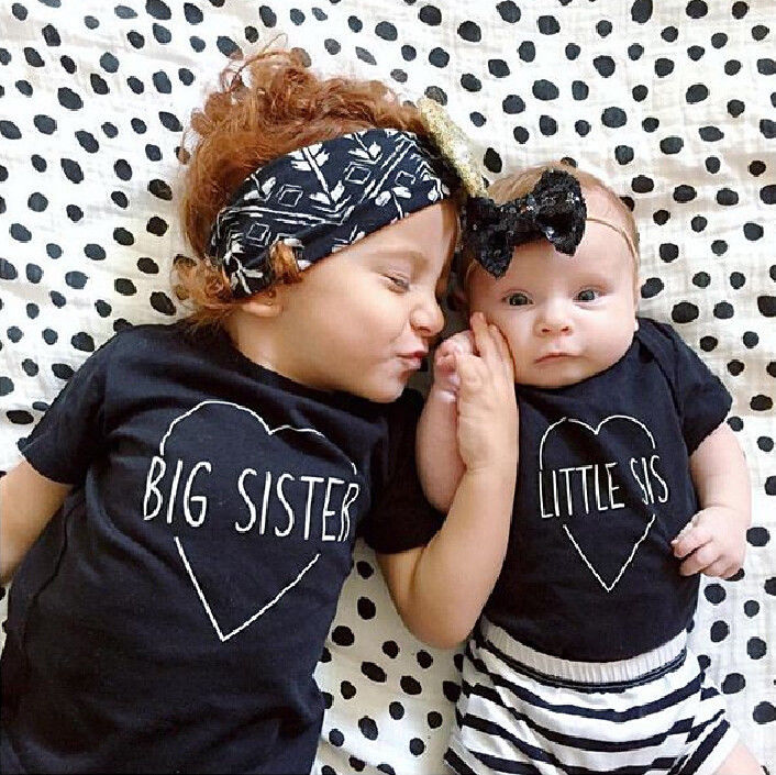 Baby boys girls short sleeve t-shirt,summer kids clothes,cotton letter printed ,Black Br ...