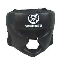 Хорошее черное боксерское обучение Санда Защитное снаряжение шлем закрытый шлем для смешанных боевых искусств UFC Муай Тай бои Защитное снаряжение защита головы