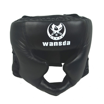 Good black boxing training Sanda protective gear helmet enclosed helmet MMA UFC Muay Thai fighting protective gear guard head