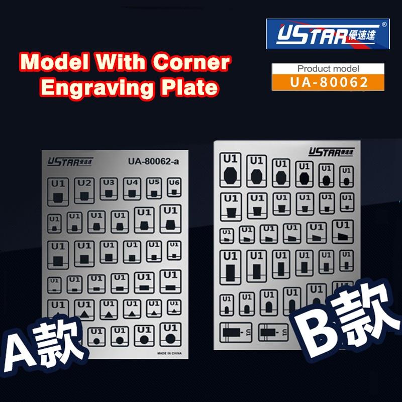 Gundam Model Details Decorations Corner Engraving Plate Template Modeling Hobby Craft Accessory