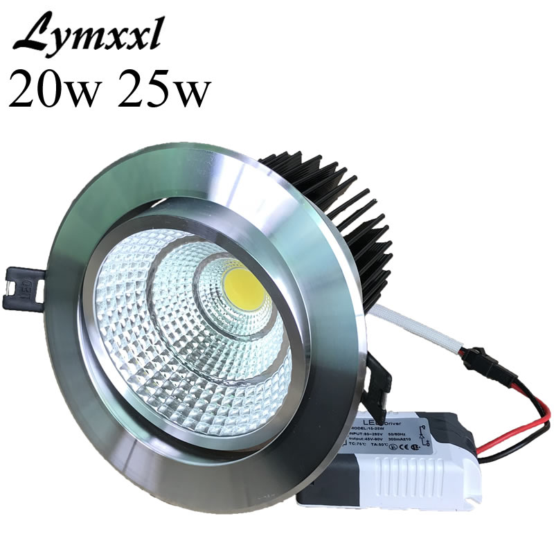 20w Led Dimmable: Silver Shell Led Cob Downlights 20w 25w Dimmable Led Down