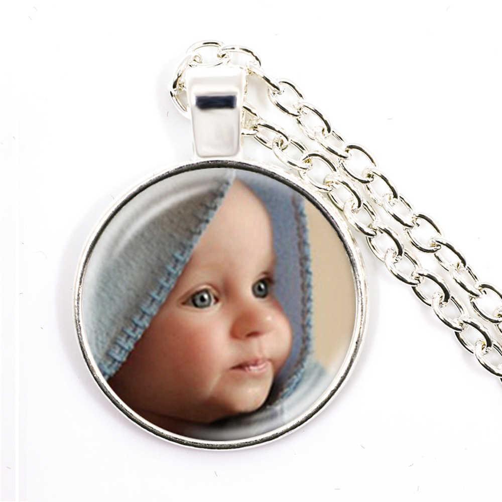 Colar Personalizado Foto Mãe Pai Do Bebê Crianças Avô Pais Projetado Foto Presente de Aniversário de Presente Para A Família