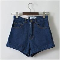 Women Denim Shorts Vintage High Waist Cuff Shorts Brand Denim Jeans Girls Casual Sexy Plus Size