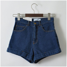GCAROL Euro Style Women Denim Shorts Vintage High Waist Cuffed Jeans Shorts Street Wear Sexy Shorts For Summer Spring Autumn (China)