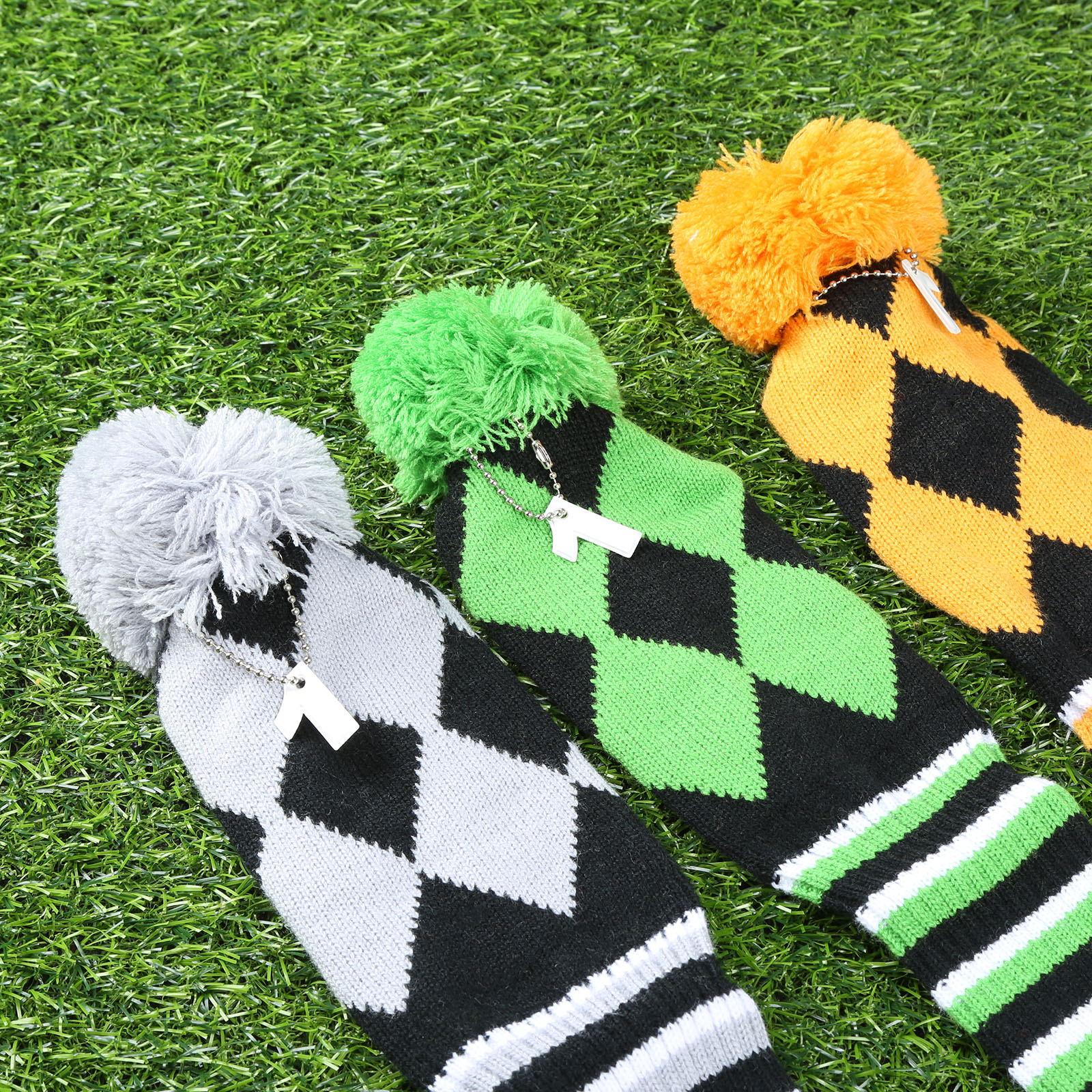 3pcs Kniting Head Covers Wool Pompom Golf Club Headcovers (1 Driver ...