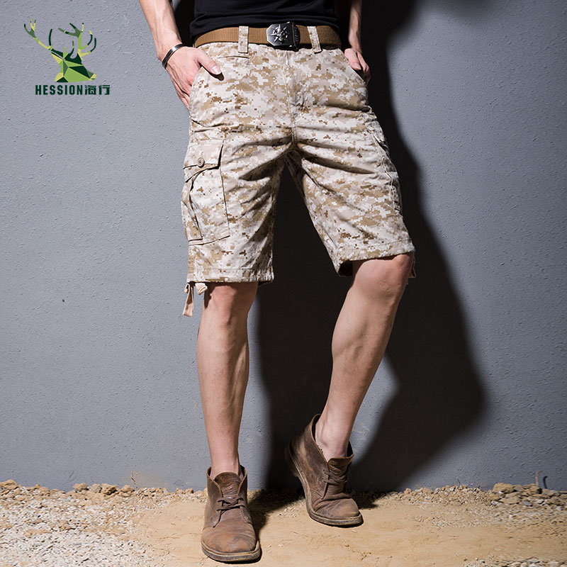 2018 New Summer Camouflage Cargo Shorts Men Loose Mens Military Trousers Casual Man Short Pants
