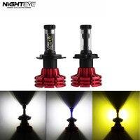 Nighteye H4 HB2 9003 60W Set 10000LM Hi Low Beam Car LED Headlights Kit Bulbs Fog